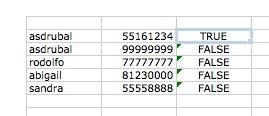 Microsoft Excel countif duplicate records
