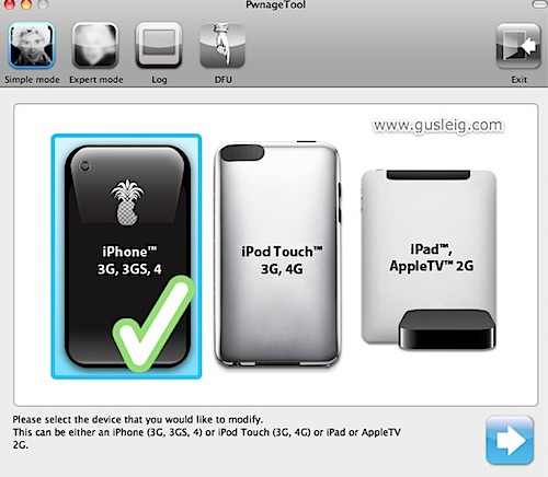 PwnageTool 4.1 iphone 4