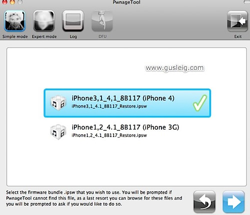 PwnageTool ios 4.1 ipsw