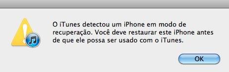 iTunes iphone recuperação