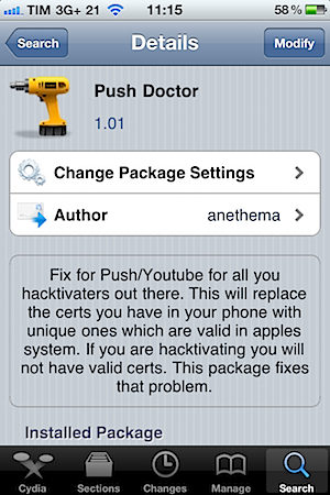 iphone push doctor