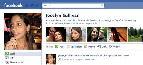 facebook new profile page
