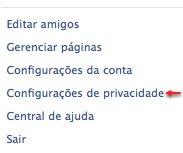 Facebook configuracoes de privacidade