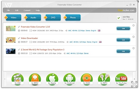 Free Video Converter screen