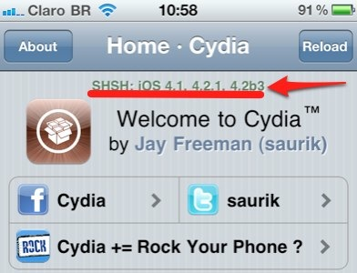 iPhone cydia shsh 4.2b3