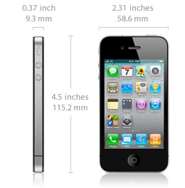 iphone 4 dimensions