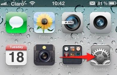 iPhone ajustes