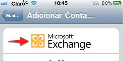 iPhone microsoft exchange mail