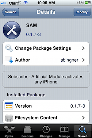 iphone cydia sam