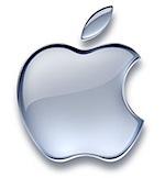 apple logo silver