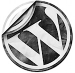 wordpress-logo black white