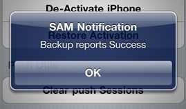 samprefs backup activation