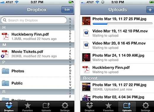 Dropbox for iPhone, iPod touch, and iPad on the iTunes App Store