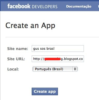 Create an App  Facebook