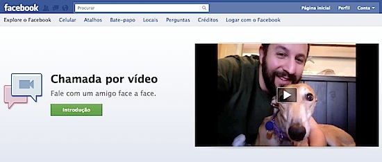 Facebook chamada video