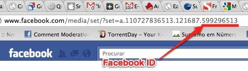 como obter o facebook ID admin ID