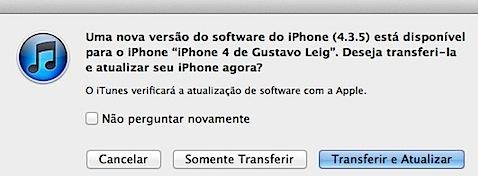 iTunes ios 4.3.5