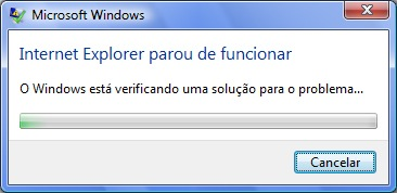 internet explorer parou funcionar