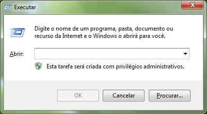 menu executar windows