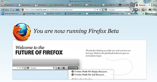 Welcome to Firefox 6 Beta-1