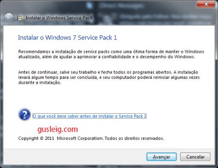 instalar windows 7 service pack 1 pt-br