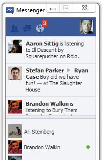 facebook messenger window