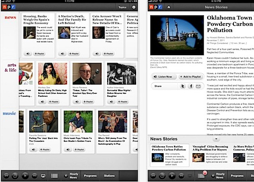 NPR for iPad for iPad on the iTunes App Store