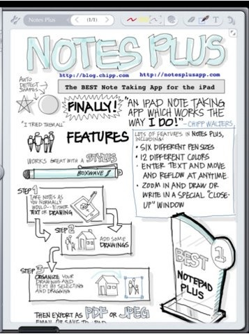notes plus ipad