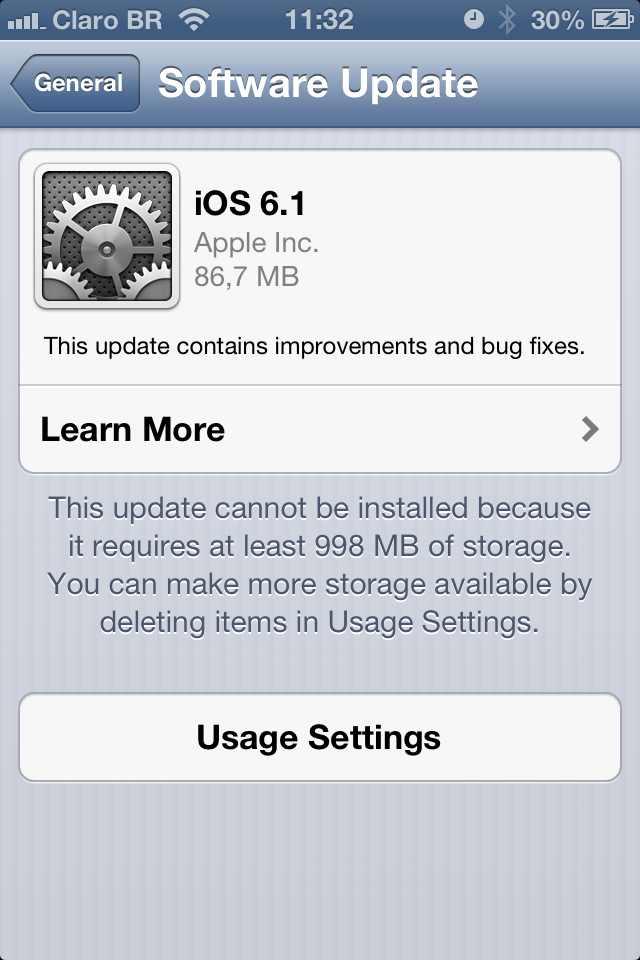 apple ios 6.1 update atualizacao iphone