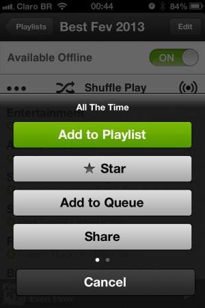 spotify song options