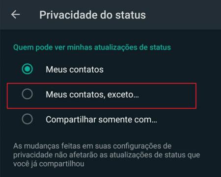 """Como Esconder o """"Stories"""" do WhatsApp de Algumas Pessoas"""