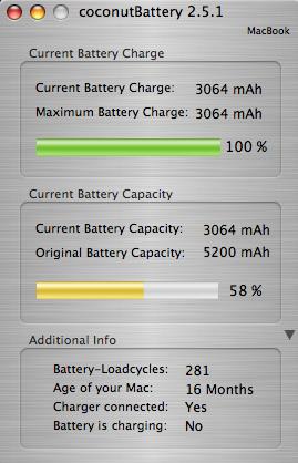 Coconut Battery Life